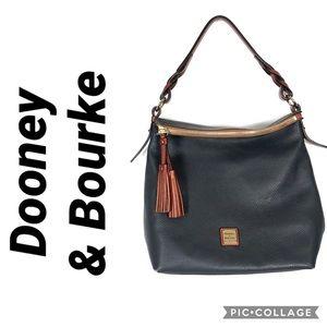 Dooney & Bourke pebbled leather hobo purse bag